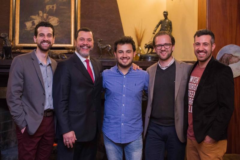 A partir da esquerda, os sócios André Garcia, Maurício Perucci, Marcus Rossi, Bruno Coletto e Bruno Monte