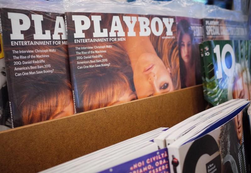 Imagem mostra a edição de novembro da Playboy exposta em uma livraria em Bethesda, no estado de Maryland