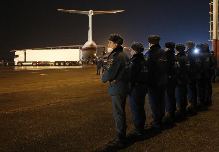 Corpos chegaram a São Petersburgo nesta segunda-feira