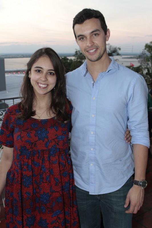 Olga Silva e Thiago Cruz participaram da happy hour
