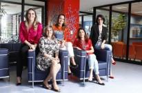 Da esquerda para a direita: Letícia Batistela, Ivana Lech, Maria Fernanda Bermúdez, Deborah Pilla Villela e Gabriela Cardozo Ferreira