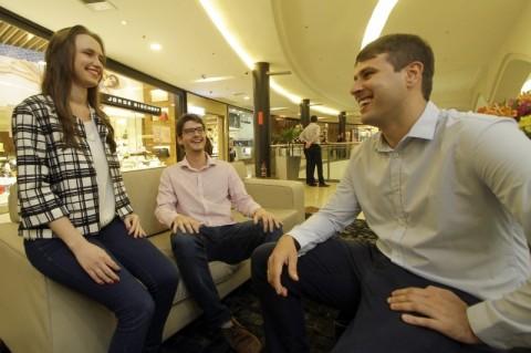 Priscila, Rodrigo e Dario: sócios estão em busca de clientes