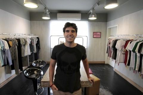 Entrevista com um dos sócios da marca de vestuário Budha Khe Rhi    Na foto: Marcelo Machado