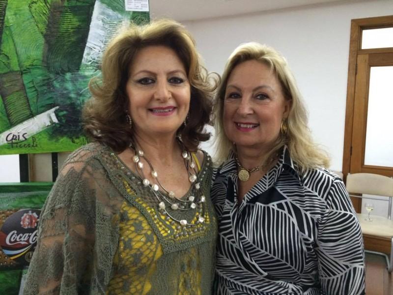 Cristina Piccoli e Maria Gueiral Ferreira no GNU