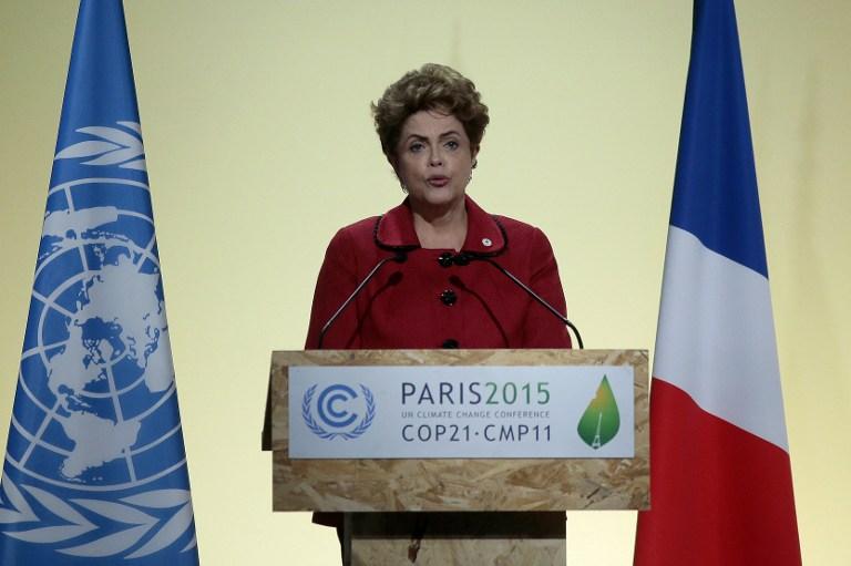 Dilma discursou na 21ª Conferência do Clima, em Paris