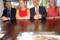 Os advogados João Luis Corsetti, Lizianne, Laury e Mariana Koch