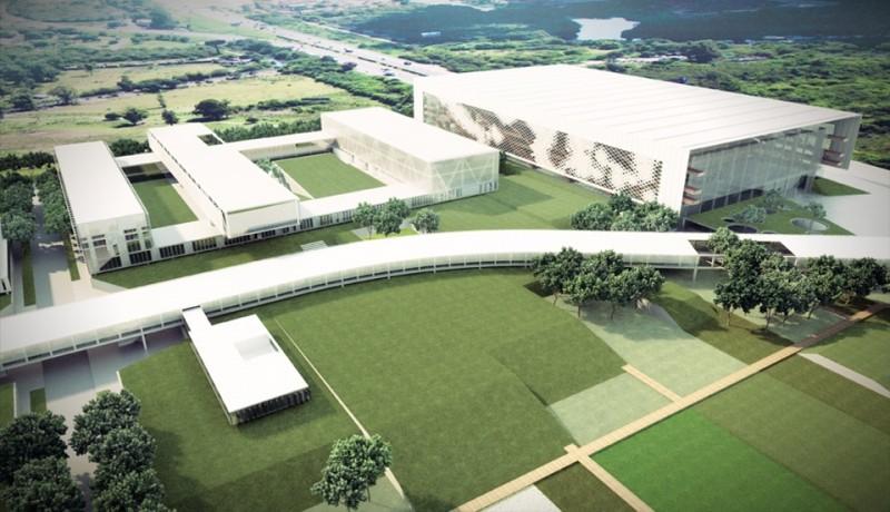 Maquete do futuro complexo da Fecomércio-RS, no bairro Anchieta