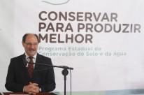 Nova política para combater a erosão foi apresentada por Sartori