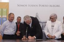 Busatto, Fortunati e Dilci firmaram compromisso na tarde de ontem
