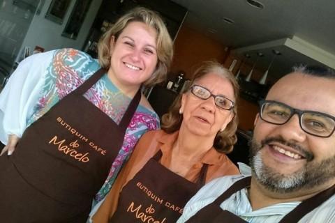 Aline Nogueira e Marcelo dos Santos, no Butiquim do Marcelo