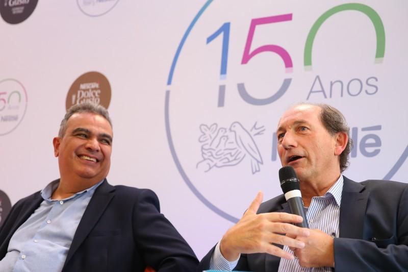Marroquín (e) e Bulcke falaram sobre os projetos da companhia