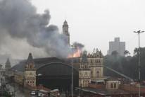 Incêndio atinge prédio do Museu da Língua Portuguesa