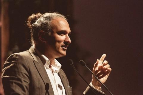 Fred Gelli, durante sua palestra no CEO Fórum, da Amcham