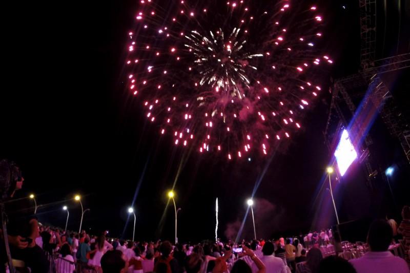 Queima de fogos de artifício durou quase 15 minutos