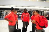 Jogadores chegaram na madrugada de ontem a Orlando, depois de 14 horas de viagem