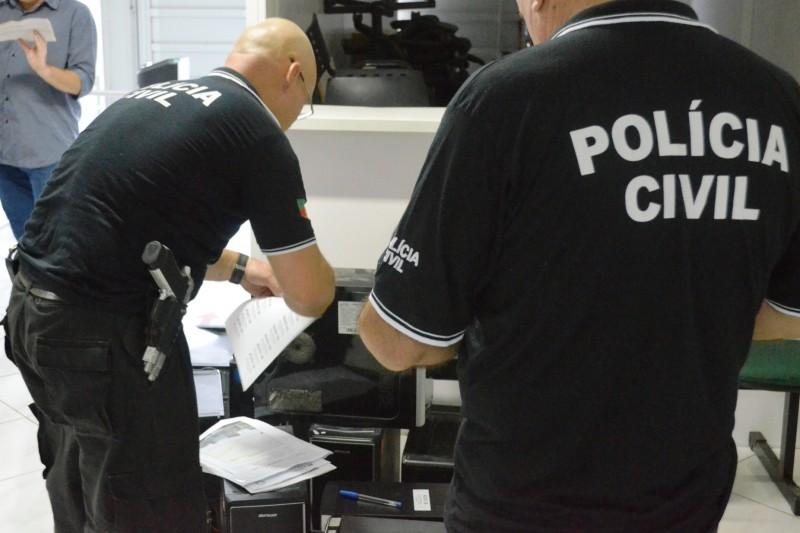 Economia - Polícia Civil deflagra Operação Spy II. Foto divulgação Polícia Civil
