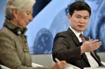 Fang e Lagarde participaram de debate durante o evento em Davos
