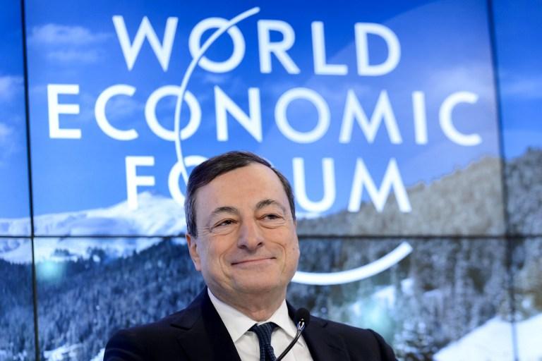 Draghi falou durante discurso em Davos, na Suíça, no Fórum Econômico Mundial