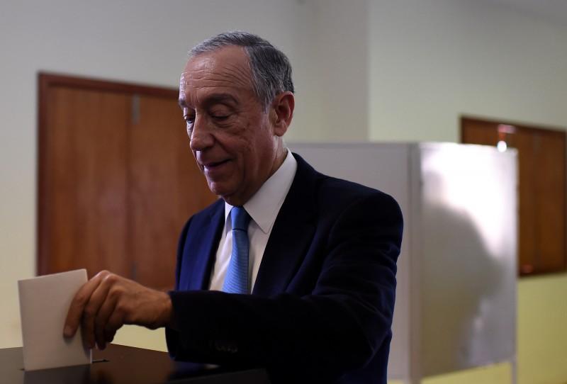 Marcelo Rebelo de Sousa, novo presidente de Portugal, votou em Celorico de Basto, no norte de Portugal