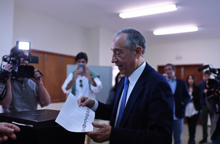 Marcelo Rebelo de Sousa, favorito para vencer as eleições, votou em  Celorico de Basto, no norte de Portugal