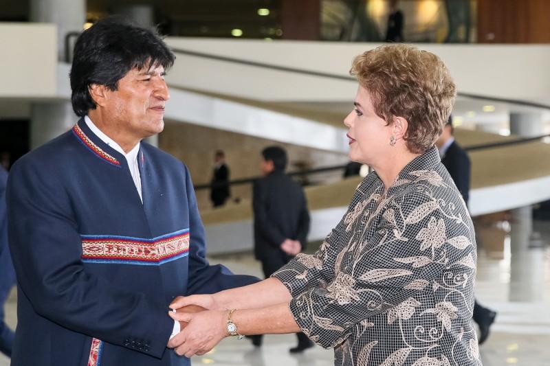Evo Morales fez sua primeira visita oficial ao Brasil desde que Dilma chegou ao poder