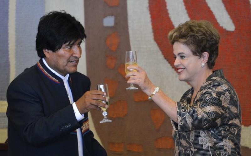 Evo Morales foi recebido pela presidente ontem no Itamaraty