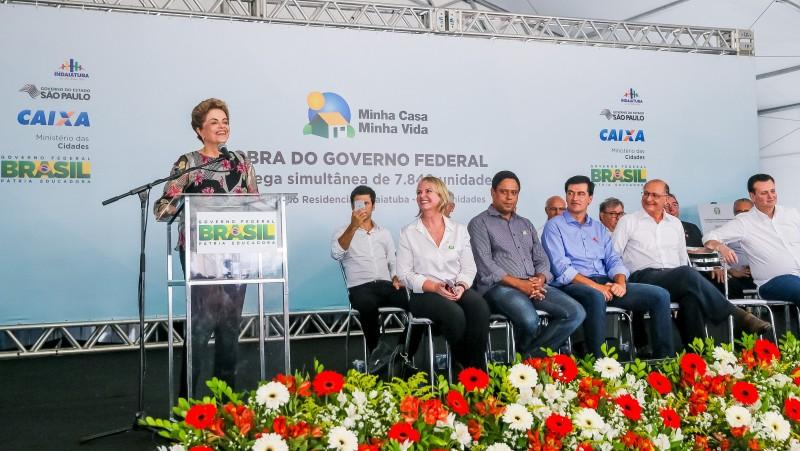 Dilma falou durante entrega de unidades do Minha Casa Minha Vida em Indaiatuba