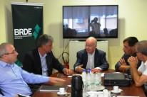 Executivos fecharam detalhes do plano financiado pelo BRDE que será erguido em Arroio do Meio