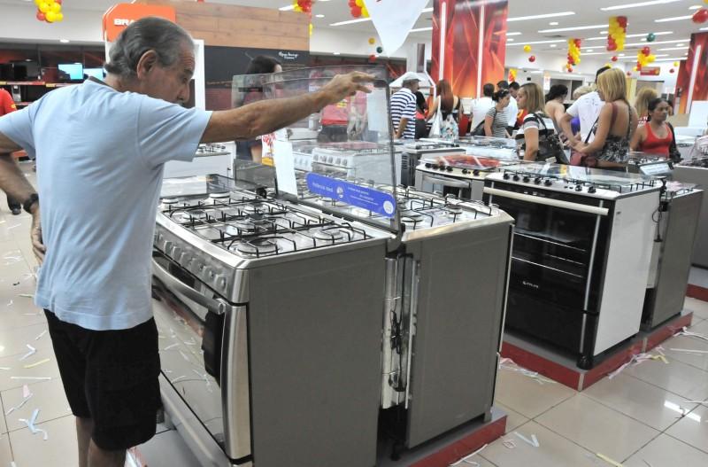 Os bens de consumo duráveis tiveram queda de 4,6%
