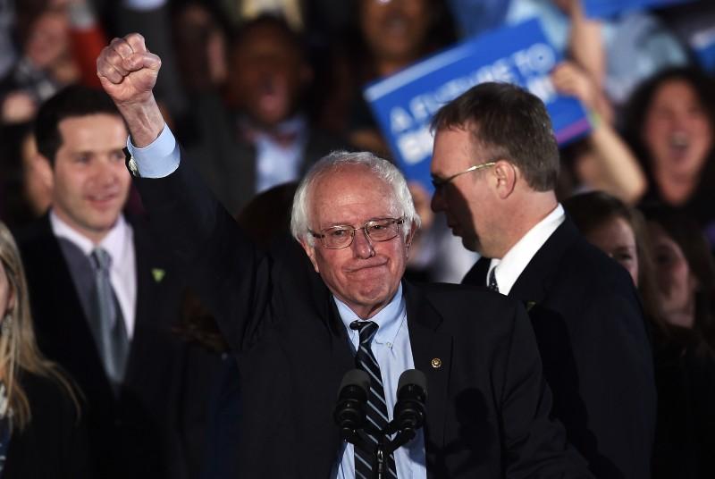 O democrata Sanders comemorou os 60% dos votos nas primárias de New Hampshire