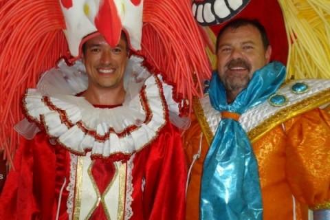 Porto seco  Roberto Snel e Jefferson Furstenau no aquece para o desfile da Império da Zona Norte, na Kia Sun Motors