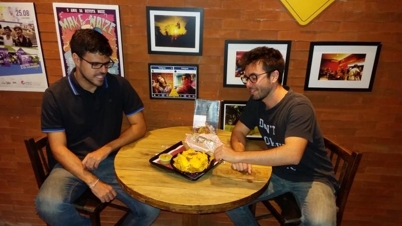 Fabrício Leite e Rafael Machado: proprietários da Oak's Burritos querem arrecadar R$ 90 mil