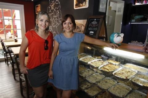 Luana Castro e Raquel Wegner são de Santa Cruz