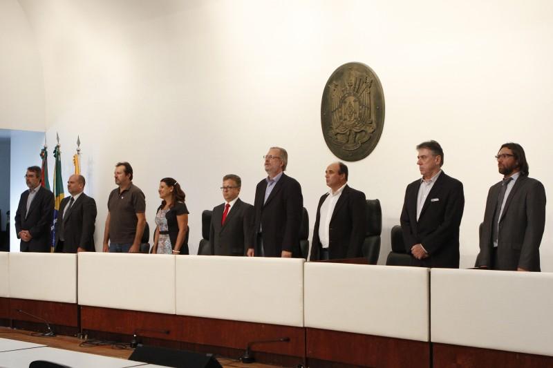 Dirigentes de entidades de classe, da sociedade civil e de sindicatos estiveram presentes