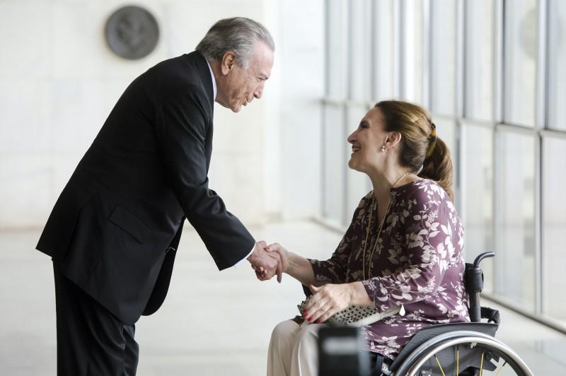 O vice-presidente da República, Michel Temer, recebeu a vice-presidenta da Argentina, Gabriela Michetti, no Palácio Itamaraty