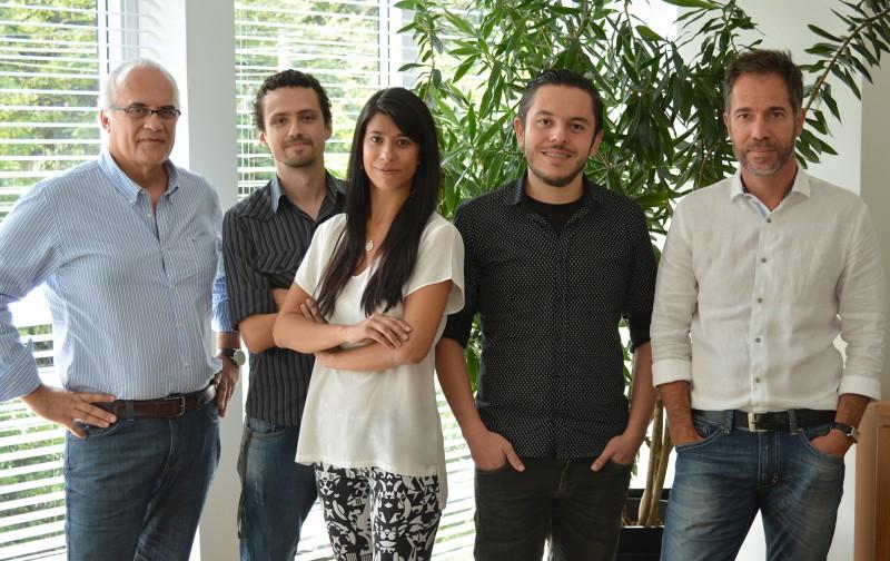 Na ação: Cesar, Eduardo, Taísa, Kim e Rodrigo Pinto