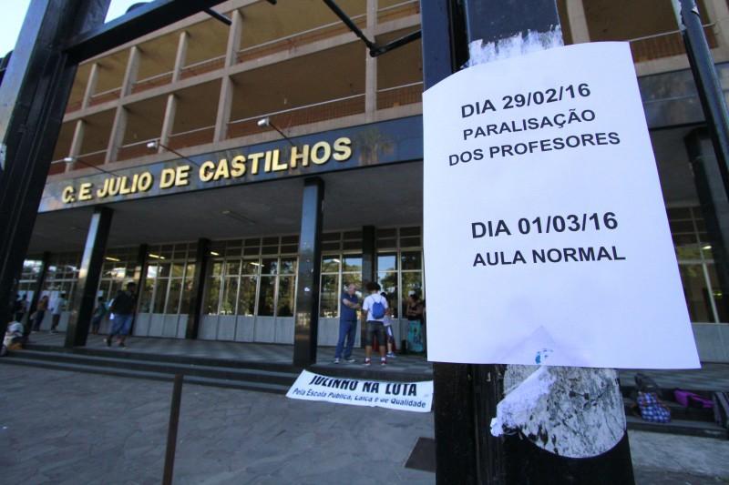 No colégio Júlio de Castilhos, aulas começam na terça-feira