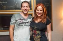 Alexandre Lemieszewski e Paula Teixeira na happy hour