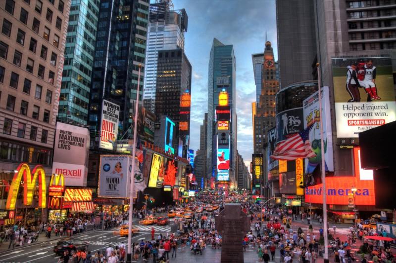 """O Brasil é o terceiro país que mais mandas turistas para a """"Big Apple"""""""