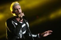 Adam Levine animou a noite cantando hits do Maroon 5