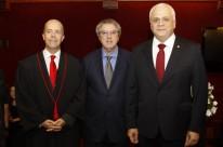 Marcelo Bertoluci, Luiz Felipe Silveira, presidente do Tribunal de Justiça, e Ricardo Breier, presidente da OAB/RS