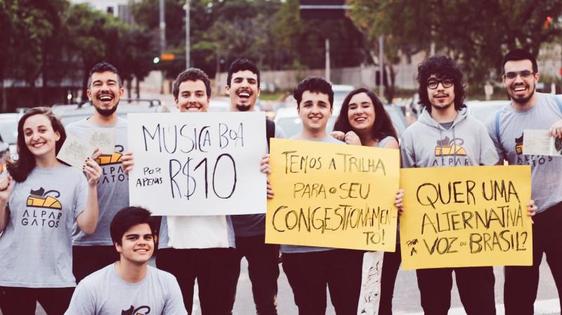 Banda realizou ação na esquina das avenidas Ipiranga e Silva Só