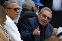 Obama e Castro assistem a exibição do jogo entre Cuba contra os Rays