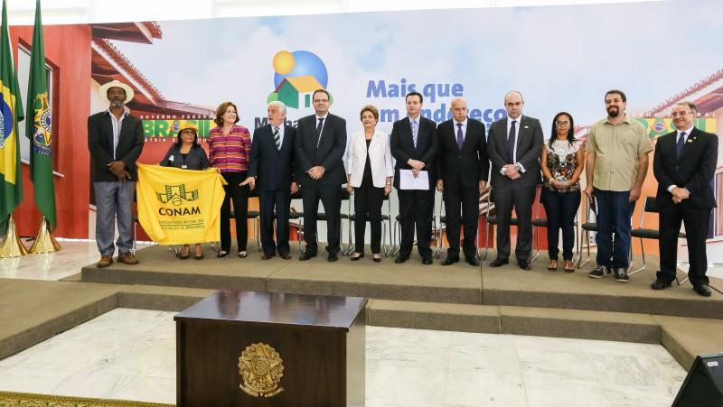 Presidente Dilma Rousseff durante cerimônia de lançamento do Programa Minha Casa Minha Vida 3