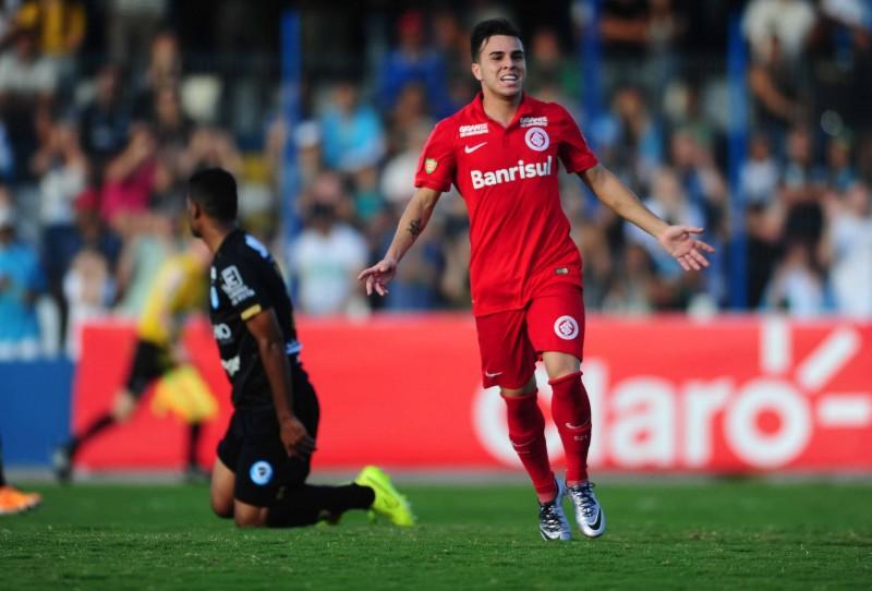 Andrigo marcou o segundo gol na vitória colorada em Vacaria