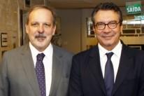 O ministro Armando Monteiro com Sérgio Maia, presidente da ADVB