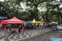 Acampamento pela Democracia. Praça da Matriz, Centro de Porto Alegre