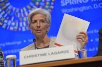 'Há ventos muito, muito frios soprando no País', disse Lagarde, comentando a previsão de queda do PIB