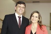 Antonio Cesa Longo e Margot Dreher, ele o presidente da Agas