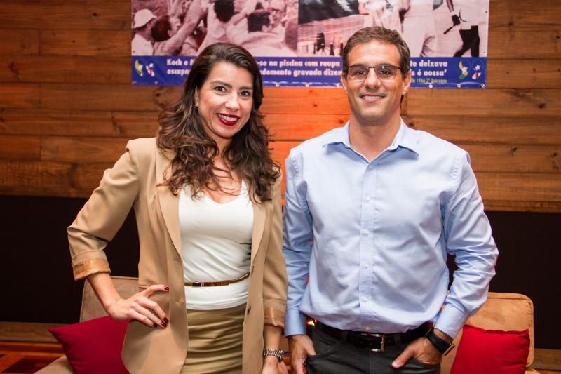 Luciane Rache e Diego Levin na abertura da exposição na ALJ